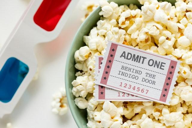 Pop corn e biglietti per festa