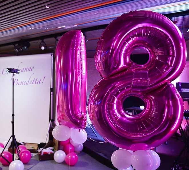 Palloncini Gadget - festa di diciottesimo - info e preventivi 3333355536